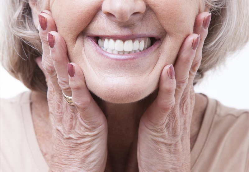 Woman with dentures from Inwood Village